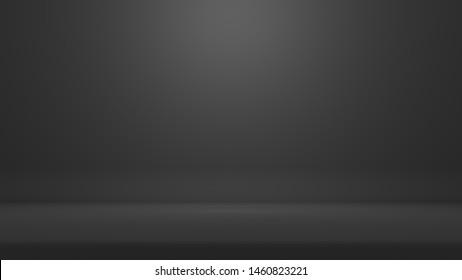 Backdrop 3D Rendering Dark grey