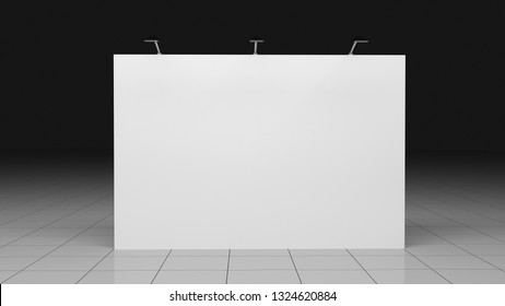 Backdrop banner 2x3 meters. Blank template. Mockup