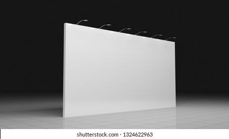 Backdrop banner 3x6 meters. Blank template. Mockup