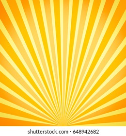 background abstract deco pop art with sun flair at sunset beam background comics backdrop sunburst