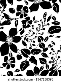 background abstract floral design for textile and digital print - Illustration