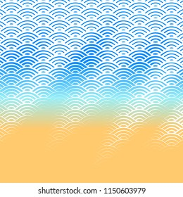 Background with abstract line waves gradient ornament