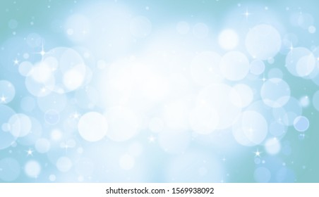 Background abstract winter. Christmas lights glitter bokeh blue
