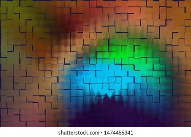 Background abstraction bright multicolor illustration main shade blue