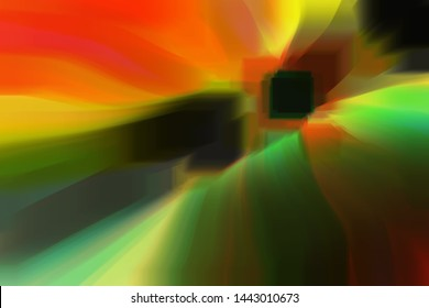 background abstraction of yellow, red, black, green shades, bright picture juicy saturated colors