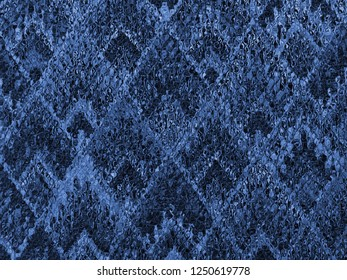 background of Asian traditional pattern glassy in blue color, colorful layer of  trapezoid mosaic pattern background