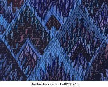background of Asian traditional pattern in matte purple and pink color, colorful layer of trapezoid graphic pattern background