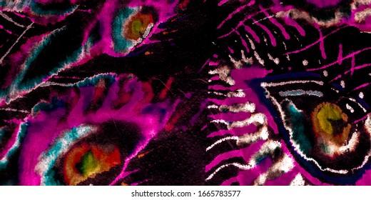 Background With Birds. Colorful Pattern. Bordo Bird Tail Print. Feather Medallion. Bordo Fabric Jungle. Bordo Peacock Watercolor Pattern. Watercolor Paint Splatter.