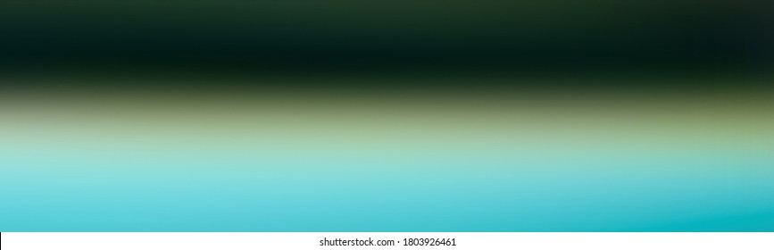 Background blank abstract wide gradient with Very dark bluish green, Blue, Black color. Blurred image banner.