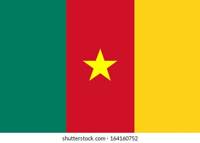 background of cameroon flag
