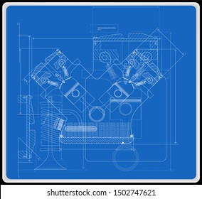background of the car engine and its components can be used as a technical background for