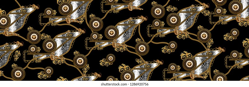 background, chain, snake, gold, pattern, leopard, design, nature, art, decoration, texture, natural, light, fashion, wallpaper, baroque, animal, ornament, elegant, luxury, skin, golden, textile, fabri