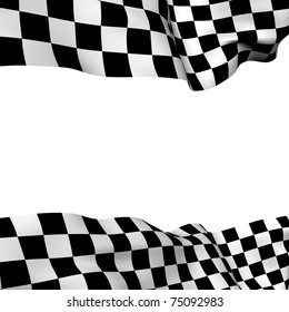 Background checkered flag with  space for your text