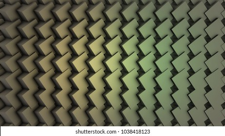 Background with colorful rotating vertical rectangular blocks, loop. Grid of randomized colorful square lines folding and rotating. Seamlessly looping motion background. Dynamic perspective with