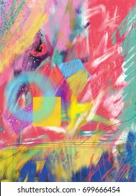 background of colorful scribbles.