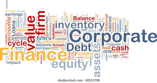 Background concept illustration of business corporate finance