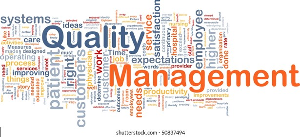 Background concept illustration of business quality management