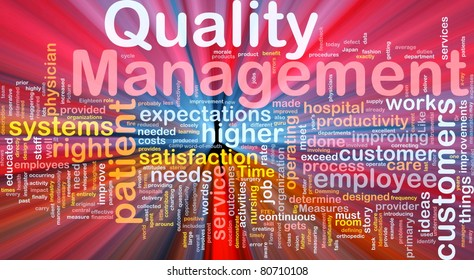 Background concept illustration of business quality management glowing light