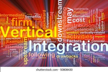Background concept illustration of business vertical integration glowing light