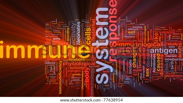 Background concept illustration Immune system health glowing light