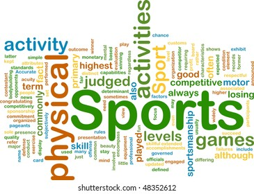 Background concept illustration of sports physical activities