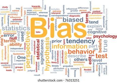 Background concept wordcloud illustration of bias