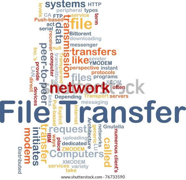 Background Concept Wordcloud Illustration File Transfer