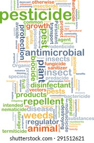 Background concept wordcloud illustration of pesticide
