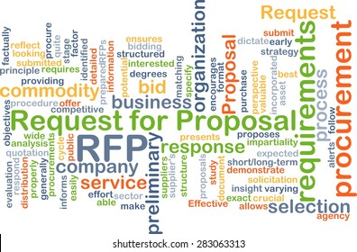 Background concept wordcloud illustration of request for proposal RFP