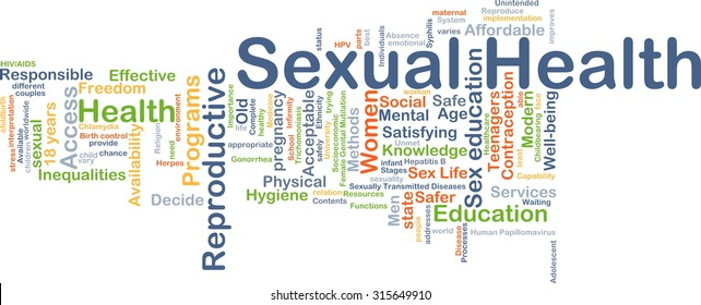 Background concept wordcloud illustration of sexual health