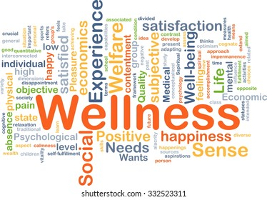 Background concept wordcloud illustration of wellness