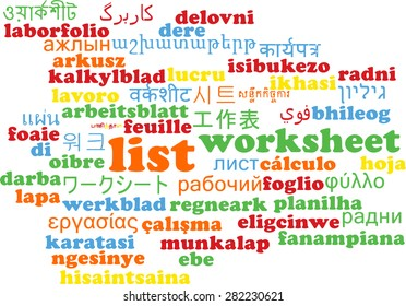 Word Cloud Tags Concept Illustration Globalization Stock ...