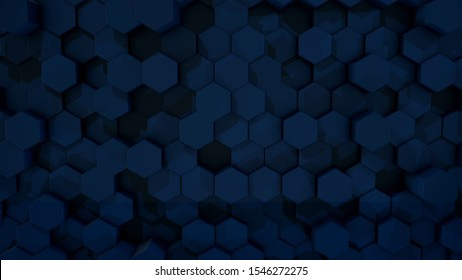 Background consisting of moving up and down honeycomb. Animated background of moving cells in form of honeycombs. 3D illustration