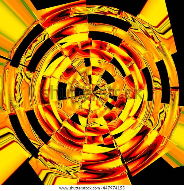 background, design, abstract, pattern, neon, color, kaleidoscope, red yellow orange black twist twirl spin spiral background backdrop pattern unique