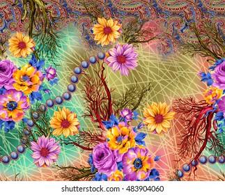 Background design with flower