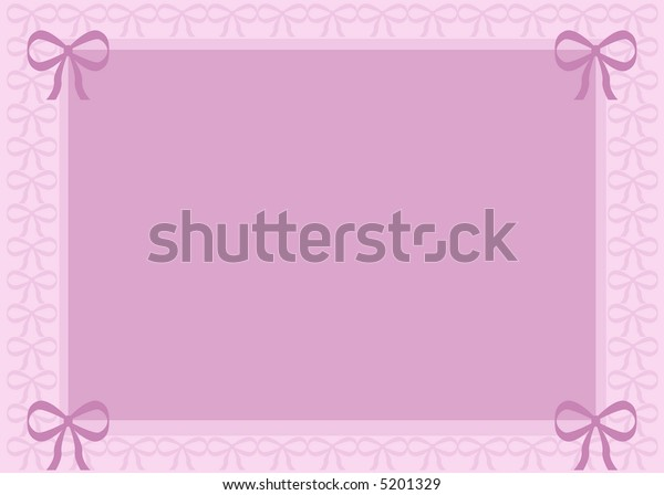 Background of different shades of pink with pretty bows around the border.