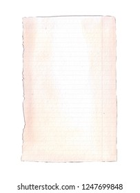 background empty note paper sheet watercolor element