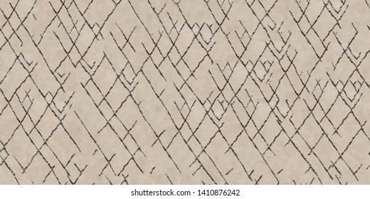 Background in the form of a carpet in the berber style. Black stripes on a beige background. Seamless pattern