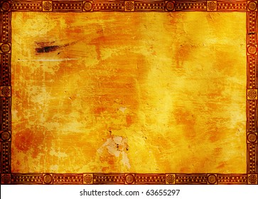Background - frame with American Indian traditional patterns
