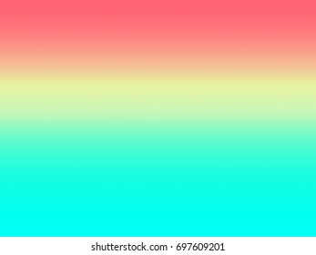 The background of the gradation in red(orange) and yellow, blue. / Graphic illustration. / Gradation background. / Gradation illustration.