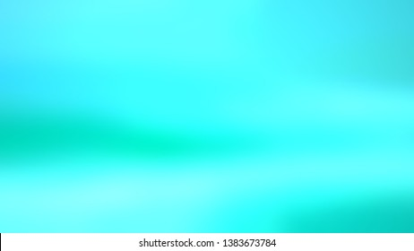 Background gradient image without focus with Aquamarine Blue, Sea Wave Green color. Template for app or application.
