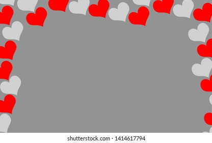 Background hearts love shape abstract