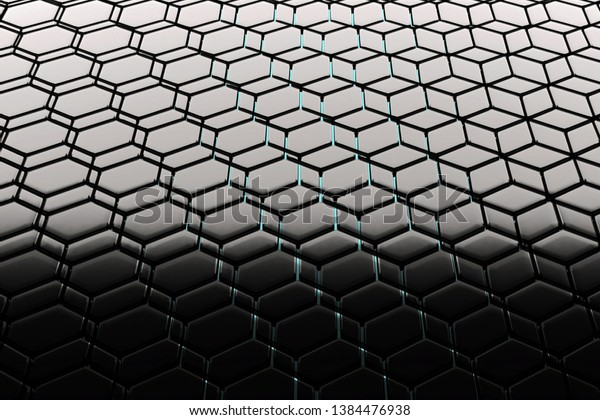 Background Hexagonal Lattice Structure Similar Honeycomb Stock