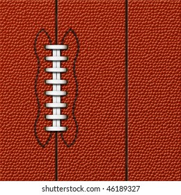 Background with highly detailed texture of American Football.