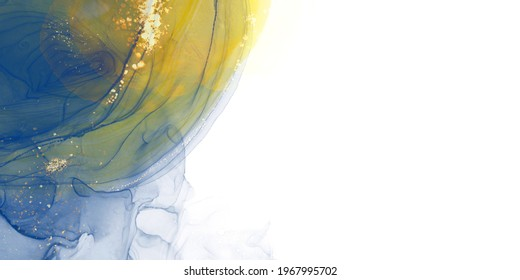 Background illustration drawn with alcohol ink