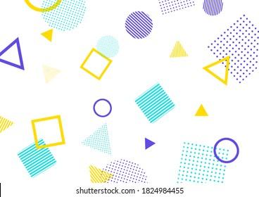 Background illustration of pop geometric pattern