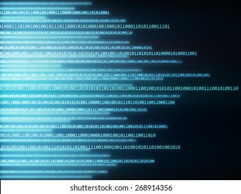 Background image of binary codes in horizontal layout.