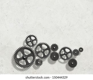 Background image with cogwheel elements. Mechanism concept