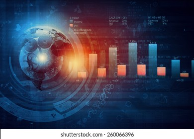 Background image with financial charts and graphs on the table