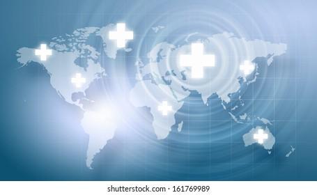Background image with medical symbol against digital background